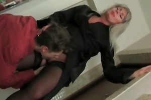 blond mommy clothed in hawt underware part5