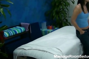 abby tempted and drilled by her massage therapist