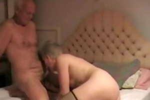 aged babe gives oral-service until he is cums
