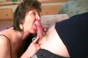 lustful oral sex with hawt granny