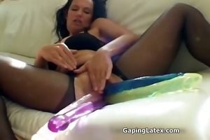 wicked wench goes eager fake penis fucking hard