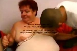 2 youthful lads fuck aged big beautiful woman