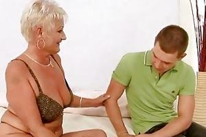 hawt euro blond granny cecily