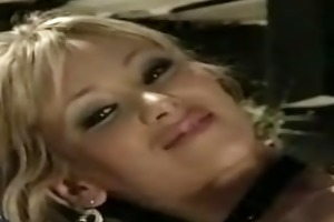hawt blonde hottie on motorcyle will make soaked