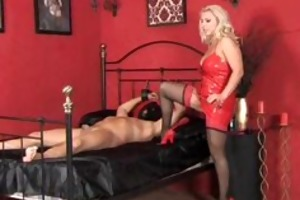 excited female-dominant lana rides dong and
