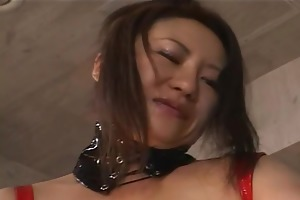 concupiscent japanese d like to fuck in red latex
