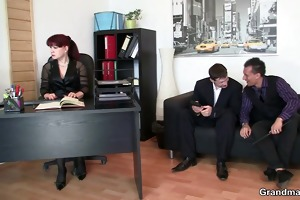 office lady pleases dongs