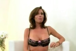 hot milf in stockings with a throat full of ramrod