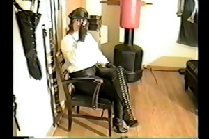 older bitch goddess in latex boots