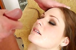 sexy milfs acquire cum splattered on their faces