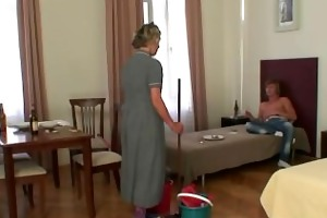 morning sex with older cleaning woman