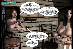 3d comic: six gun sisters. episode 5