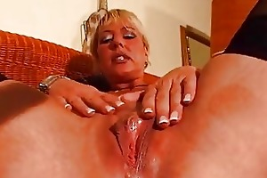 older golden-haired enjoys her own body dbm movie