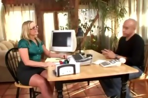 blond mother i in hawt office fetish