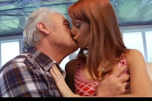 youthful erica fucks the old grand-dad