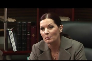 lesbo boss takes advantage of her employee