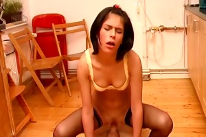 excited d like to fuck drilled hard in kitchen !