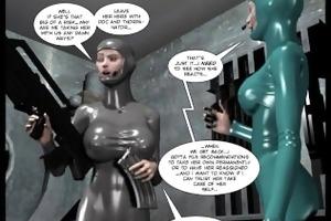 3d comic: spermaliens. movie scene 1