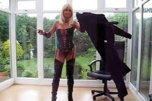 d like to fuck in pvc coat &; leather lace