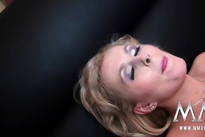 tempting golden-haired d like to fuck seduces and