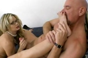 breasty mother i in glasses receives pushed hard