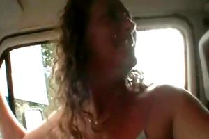 lustful shaggy whore sucks and bonks dick