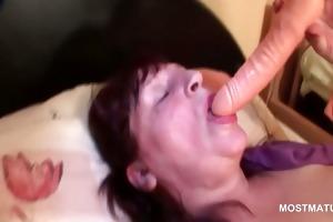 big beautiful woman hot aged tramp fingering her