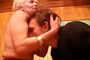 hairy granny bonks her lad