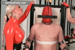 breasty large boobed latex excited milf part3