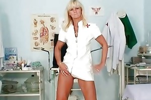 older frantiska pussy gaping in nurse uniform at