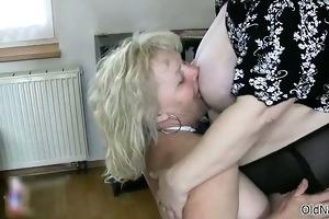 marvelous lesbian babes aged receives lascivious