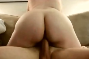 non-professional wife ardent and carnal riding