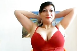 large breasted mother i stripping and teasing