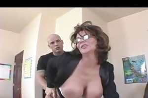 breasty d like to fuck teacher in nylons copulates