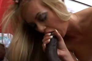sexy businesswoman on a darksome cock