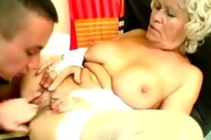grandmother cums after oral pleasure