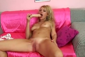 olga shows off her toy