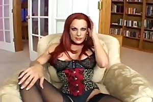 busty redheaded d like to fuck fucking in black