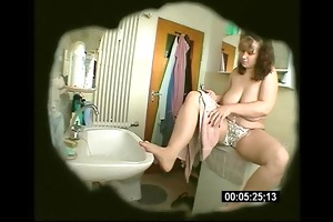 big beautiful woman wife masturbates in washroom