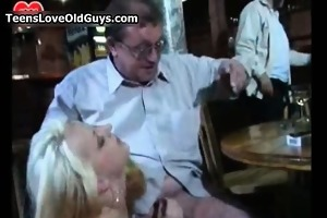 sexually excited old stud acquires his cock sucked