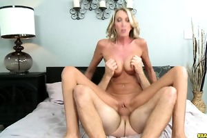 brynn rides reverse cowgirl and receives pounded