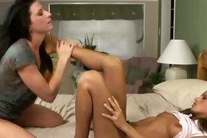 constricted teeny lesbos do it is sexy on mamas