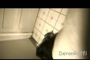 a mwf getting drilled in the bath
