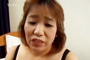 lewd aged kiriko nakamoto enjoys filling her