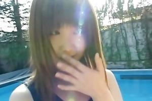 legal age teenager gal momoko tabata in a swiming