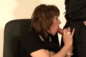 lad acquires sucked off by older lady