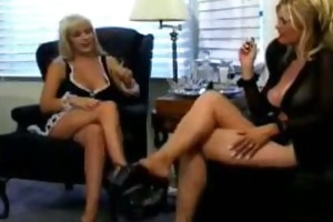 kinky fetish lesbian maid with domina