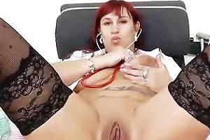 wifey redhead fingering in uniforms
