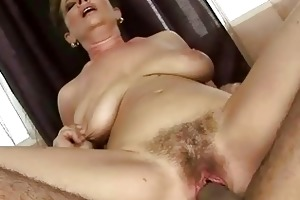 granny acquires her hairy cum-hole drilled