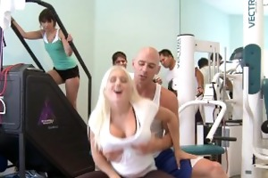 work out large tit sammie spades in sports hd